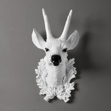 Home Statue Decoration Accessories Nordic Style Deer Head Sculpture Living Room Wall Hanging Decor Craft