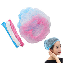 ГОРЯЧИЕ 100 ПК одноразовые шапочки душ прозрачный водонепроницаемый шляпа плиссированные анти пыль шляпа женщины +ванна капот волосы салон красота инструменты