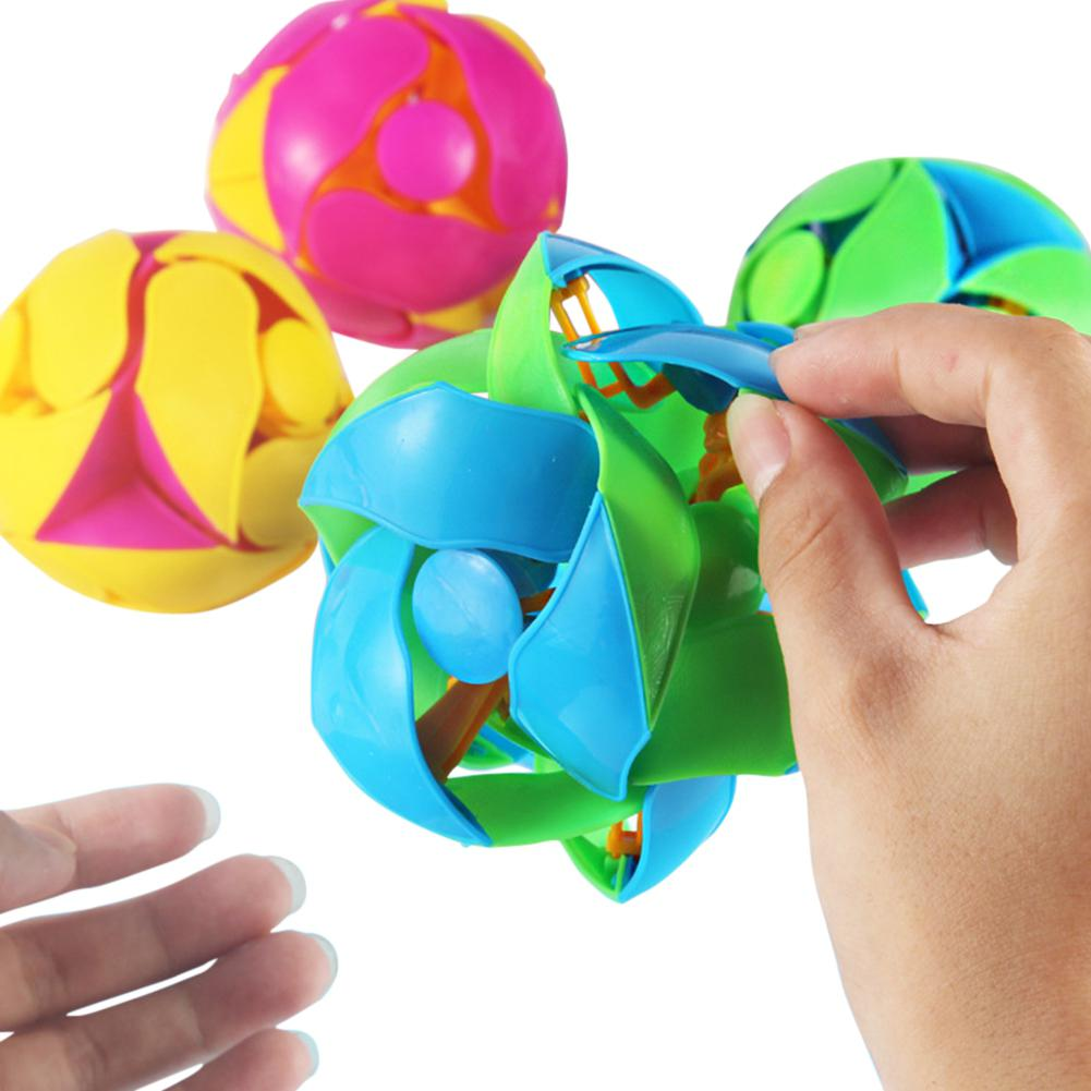 None Toy Ball Creative Decompression Double Color Ball For Adult And Kid Throw Change Color Stretch Deformation Ball Toy