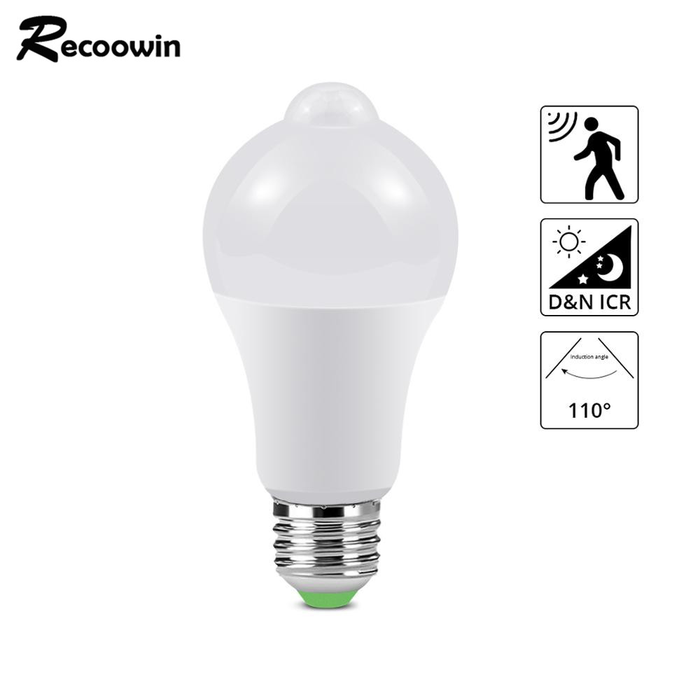 Led Pir Sensor Bulb E27 10w Dusk To