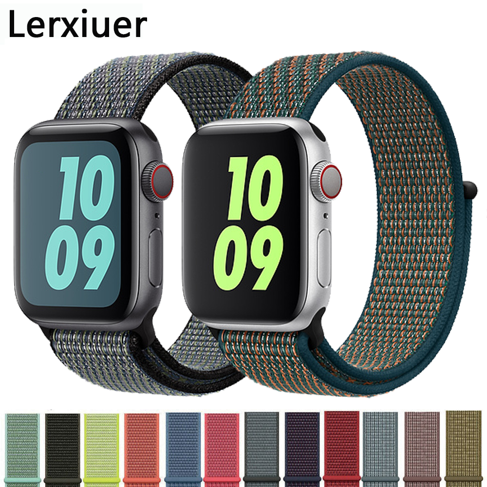 Nylon Strap For Apple Watch 5 Band 44mm 40mm IWatch Band 42mm 38mm Sport Loop Watchband Bracelet Apple Watch 4 3 2 1 42 40 44 Mm