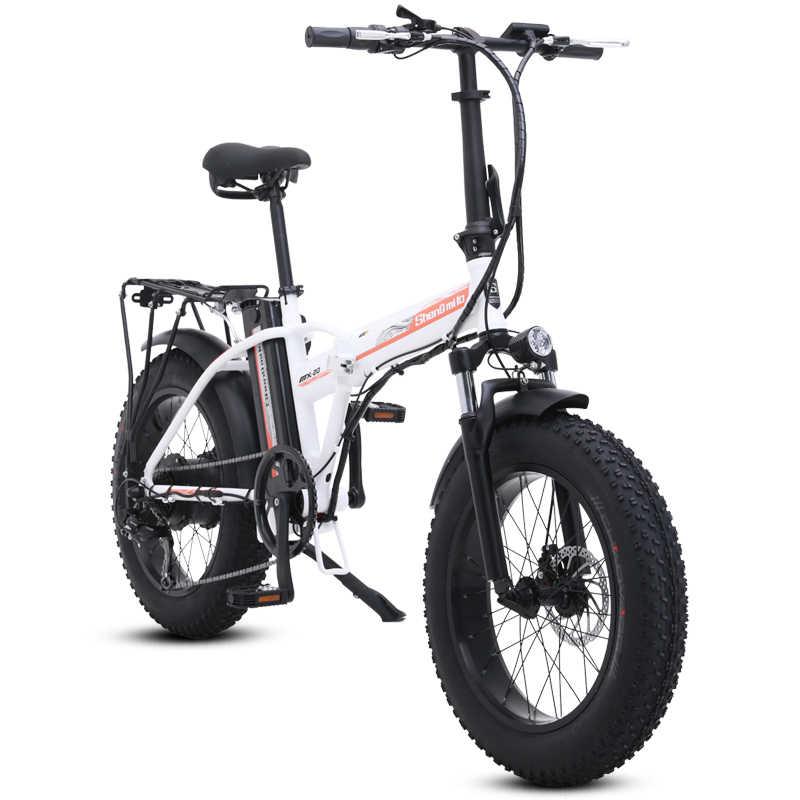 Bicicleta elétrica 500w4.0 pneu gordo bicicleta elétrica praia cruiser bicicleta impulsionador dobrável 48v 15ah bateria de lítio ebike