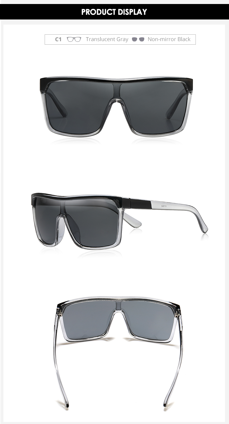 KDEAM Flynn Style Sunglasses Men Plus Shape Outdoor Anti-reflective Sun Glasses Women with Peanut Box