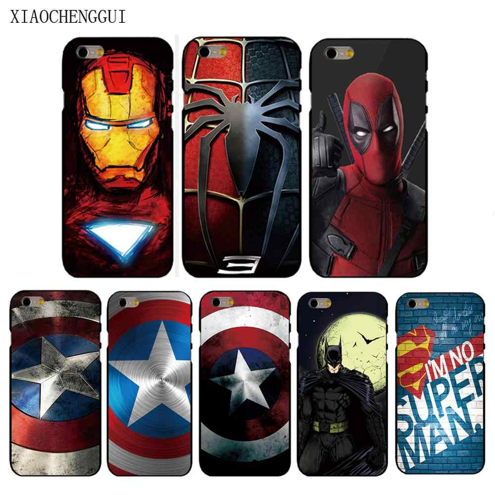Captain America housse homme en fer pour Apple iphone X XS XR XSMAX 8 8plus 4 4s 5 5s SE 5c 6 6S 6plus 7 7plus