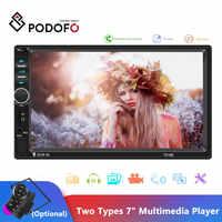 "Podofo Auto Radio Autoradio 7 ""2 Din Touch Screen Multimedia-Player Bluetooth Spiegel Link FM MP5 Player 2din Kassette recorder"