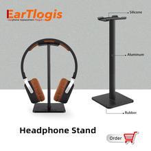EarTlogis Headphone Stand Earphone Holder Rack Hang Non slip Universal Headset Hanger For All Size Headphones