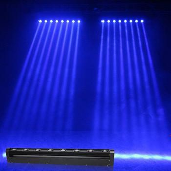 Reflektor z ruchomą głowicą listwa LED 8X12W RGBW 4w1 LED z 10 38 DMX Beam światła dj-skie najlepsze dla Dj Disco Birthday Party parkiet taneczny ślub tanie i dobre opinie CN (pochodzenie) Stage lighting effect Dmx etap światła 100W FG--BMH0812 90-240 V Profesjonalne stage dj Within 1 year