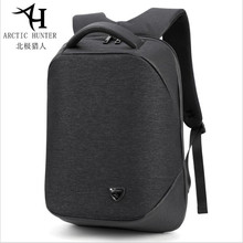 ArcticHunter 2019 Men USB Charging Backpack Headphone plug Anti-theft 15.6 Laptop waterproof Business Large Travel bag