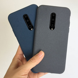 matte silicon case on for oneplus 8 7t 7 pro 6t 6 5t 5 3t 3 fitted soft tpu sandstone back cover anti fingerprint case fundas(China)