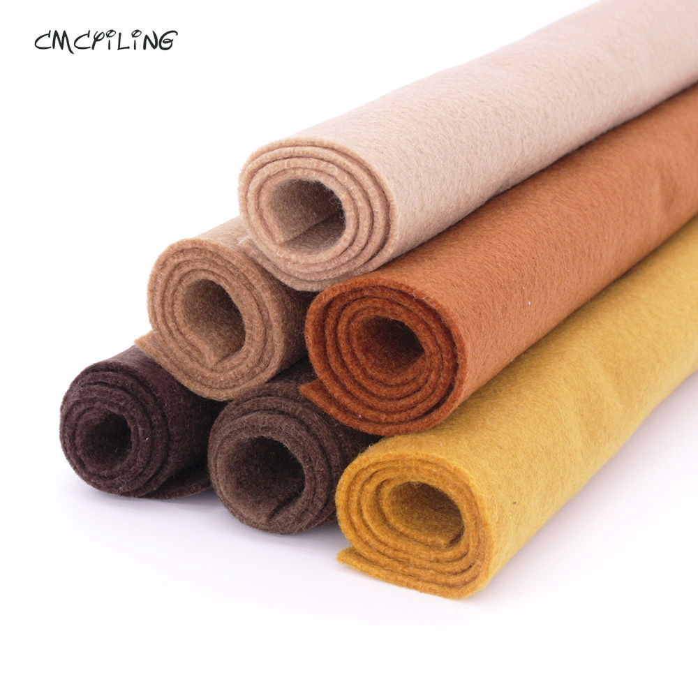 Flesh/Brown/Chocolate Color Soft Felt,Felt Craft, Polyester NonWoven Fabric,Decoration Material,For Scrapbooking,Sewing Toys