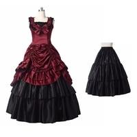 Medieval Renaissance Victorian Ball Gown Gothic Civil War Halloween Vampire Dress Costumes for Women