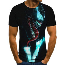 2020新ホット販売男女毒3D印刷tシャツファッションカジュアルシャツフィットネストップtシャツ110/6XL
