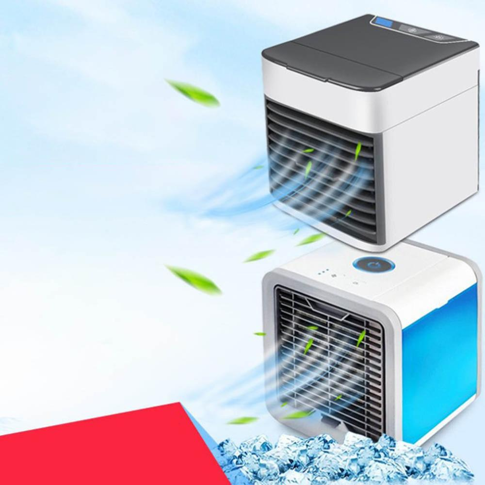 Dropshipping Mini Portable Air Conditioner Artic Air Cooler Household Small Leafless Personal Space Fan Air Cooling Fan Device