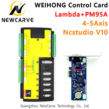 WEIHONG CNC Control System Card Milling Machine 4 5 Axis Controller PM95A + Lambda5S Software NcStudio For CNC Router NEWCARVE engraving machine accessories weihong card whb02 latest wireless control handle