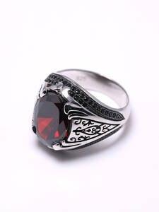 Rings Luxury Jewellery Zircon-Stone Turkish Retro Women 925 Silver Sieraden with Vintage