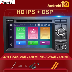 4GB DSP 2 Din GPS Android 10 Car DVD Player Radio for Audi A4 B8 S4 B6 B7 RS4 8E 8H B9 Seat Exeo2002-2008 Multimeida Navigation