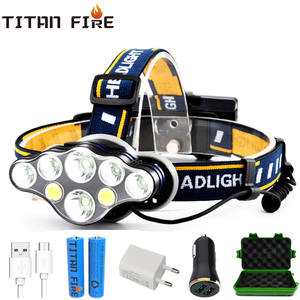 LED Headlamp Flashlight Fishing Rechargeable-T6 Camping Waterproof Lumens Zoomable COB
