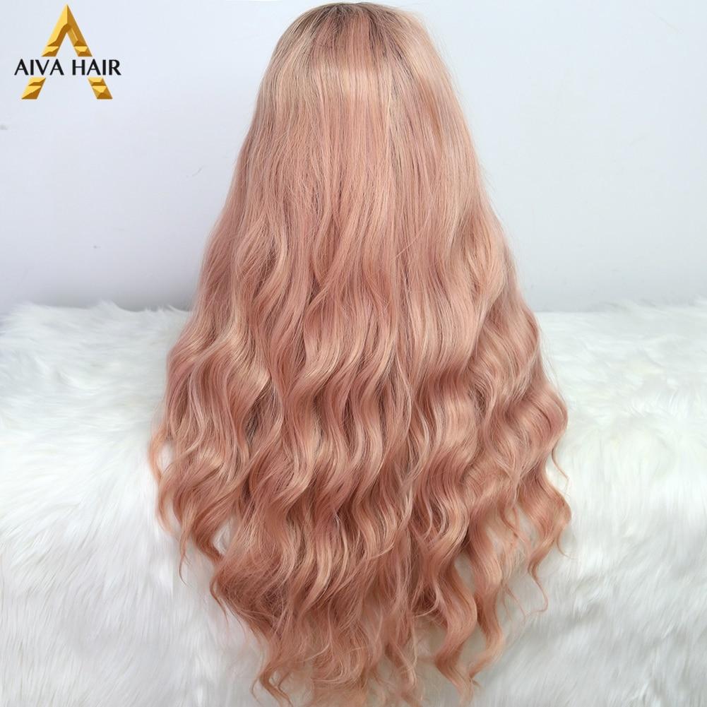 aiva cabelo ombre rosa peruca sintetica resistente 04