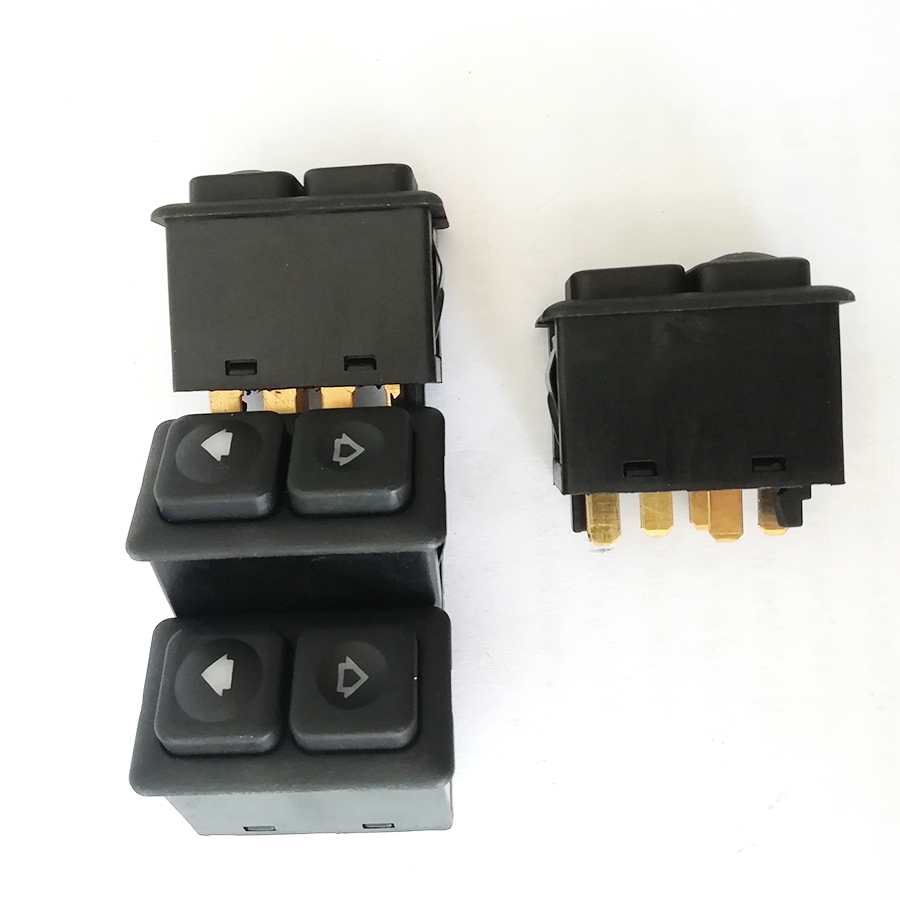 4X Illuminated Power Window Switch 5 PIN For #61311381205 <font><b>BMW</b></font> <font><b>E23</b></font> E24 E28 E30 image