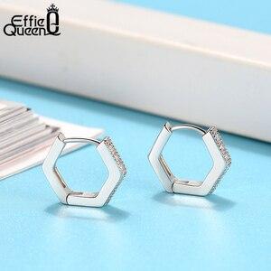 Image 4 - Женская фотография Effie Queen маленькая серьга кольцо Silver 12 мм с AAAA 925 пробы вечерние ний свадебный подарок BE261