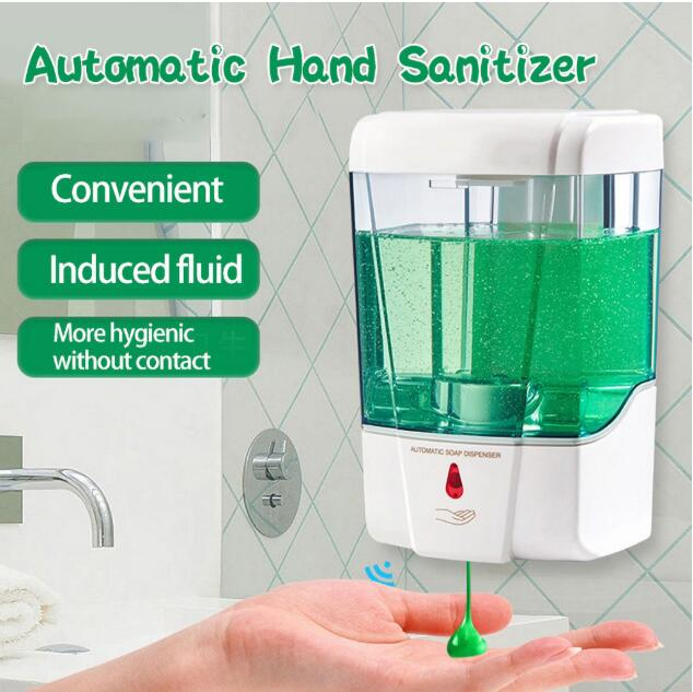 700ML Automatic Smart Sensor Anti-Bacterial Hand Sanitizer Wall Mounted Hand Washer Touchless Soap Dispenser Alcohol Sterilizer