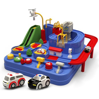 Car Adventure Game Manipulative Rescues Squad Adventure Rail Car Model Racing Educational Toys M09