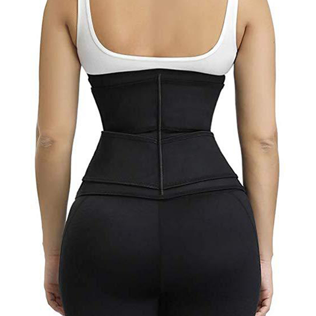 Fitness Hot Women Waist Trainer Sweat Belt Waist Trimmer Slimming Tummy Control Girdle Weight loss Support Belt For Men Women 4