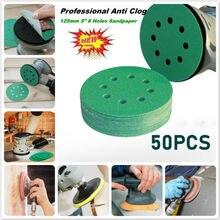 50PCS Professional Anti Clog 125mm Sandpaper 5