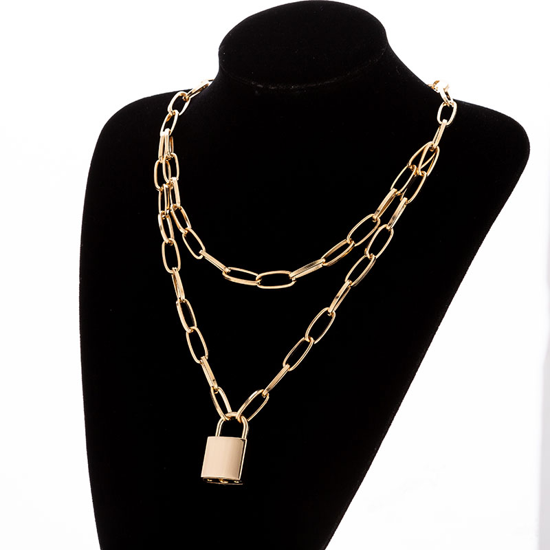 Hc3335c3753dd4474a604cca0fc0dbbd7v - KMVEXO Multilayer Lock Chain Necklace Punk Padlock Key Pendant Necklace Women Girl Fashion Gothic Party Jewelry