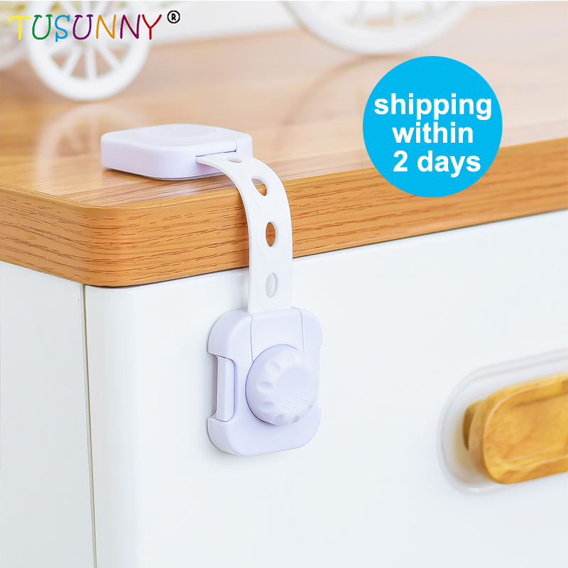TUSUNNY 3PCS  Child Infant Baby Safety Lock Latch Plastic Adjustable Baby Safety Products Fridge Lock Child Safety Lock