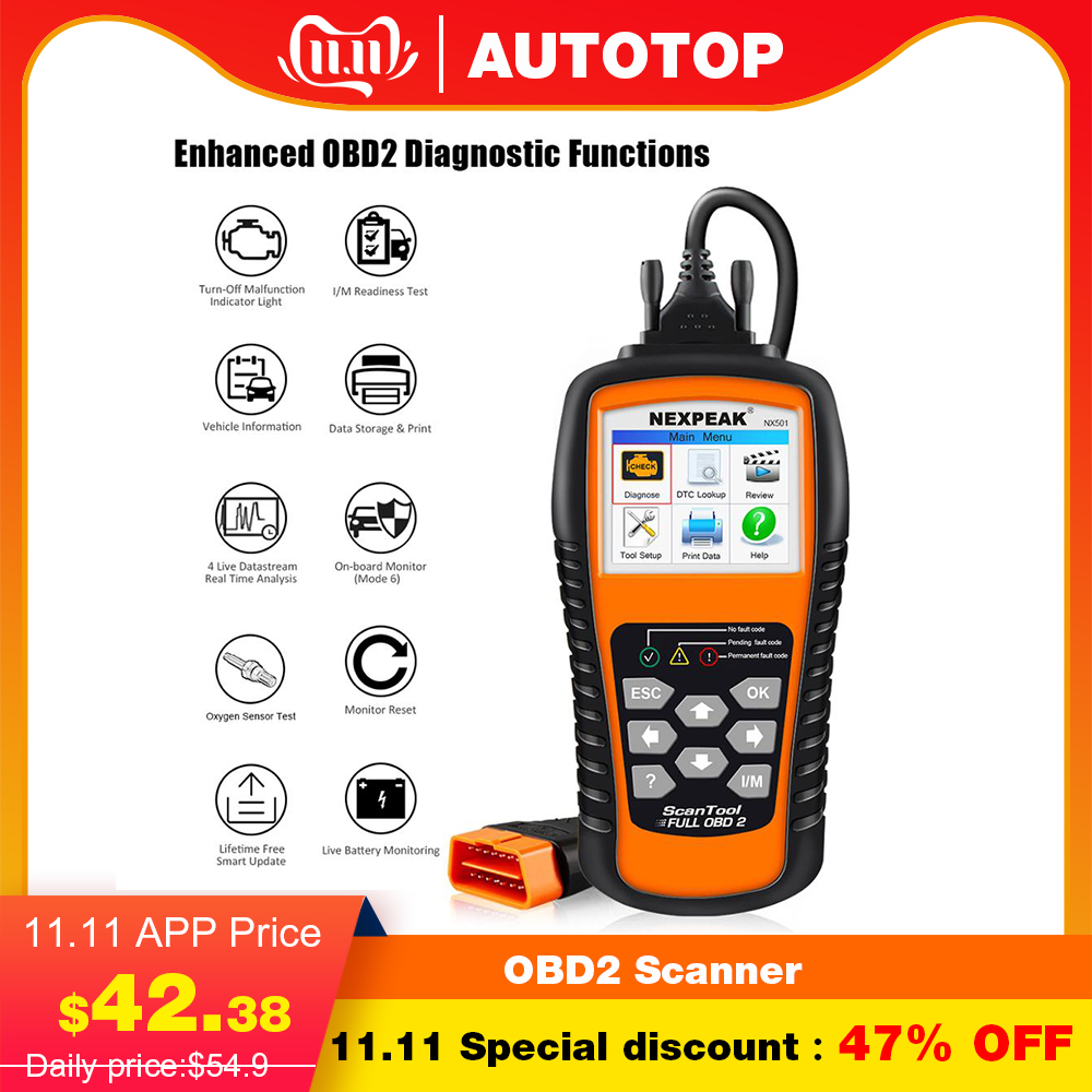 Universal OBD2 Scanner Auto Car Diagnostic Scanner For Car Diagnostics NX501 ODB2 Check Engine Code Reader Free Update Lifetime