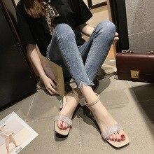 SunNY Everest 2020  Spring sandals female coarse summer new fairy transparent