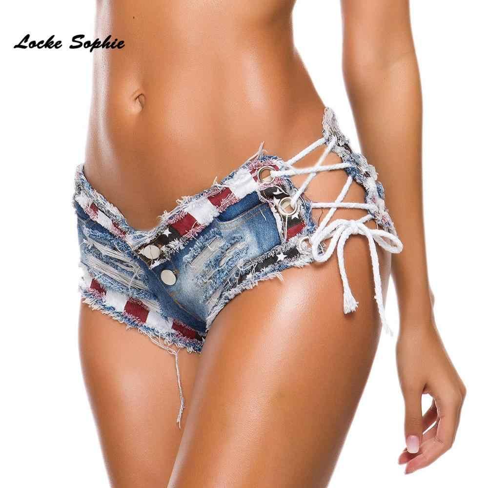1 個の女性のセクシーなデニムショーツ 2020 夏デニムコットン包帯ブロークンホールショーツレディーススキニーセクシーなクラブの超ショートジーンズ