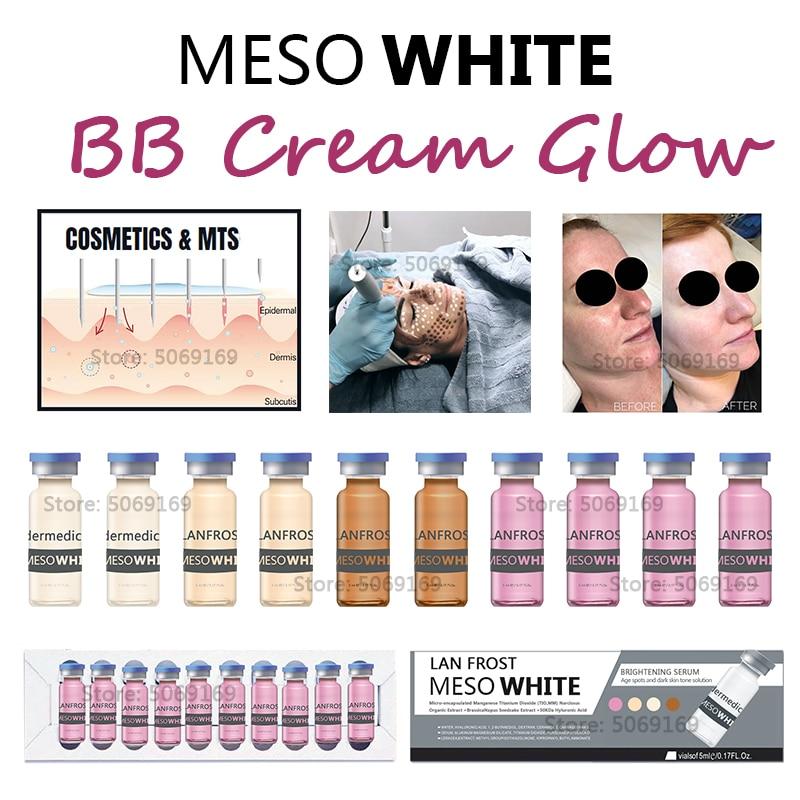 Hot Korean Cosmetics Whitening Serum BB Cream Glow Meso Brightening Serum For Whitening Acne Anti-Aging BB Cream Serum Liquid