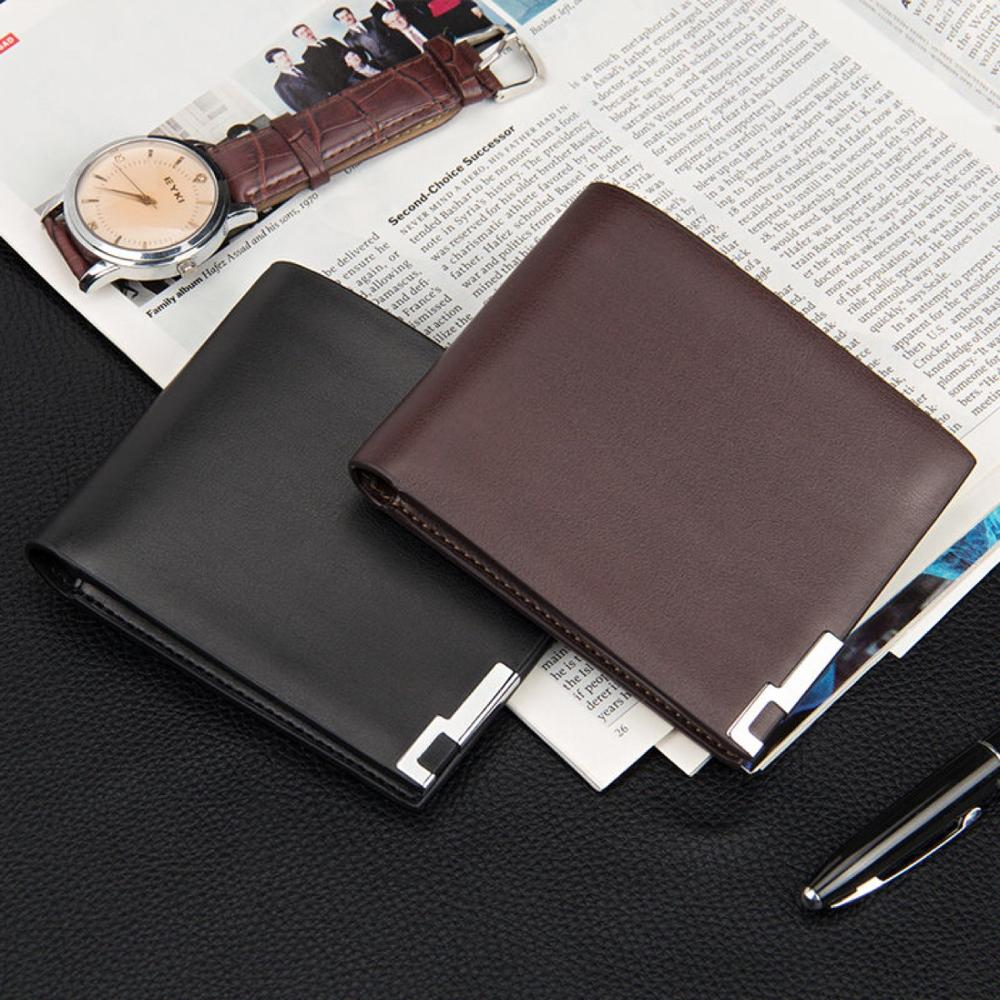 2020 Fashion Men's Wallet Credit Card Holder Simple Style PU Leather Horizontal And Vertical Two Styles Men Wallet Card Package image
