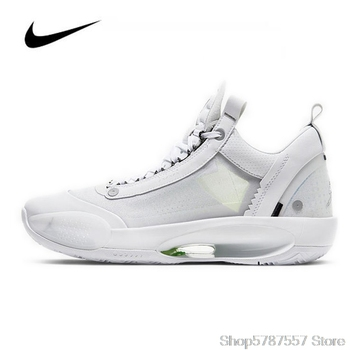 Original Nike Air Jordan 34 Men's Basketball Shoes Low PF Pure Money CU3475-100 High-top Jordan Shoes Basketball Sneakers сотовый телефон samsung sm a115f galaxy a11 2gb 32gb red