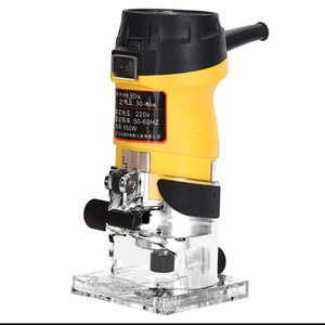 850W 3800 об/мин Электрический ручной быстроходный деревообрабатывающий фрезерный станок 6,35 мм деревообрабатывающий ламинатор столярное дело...