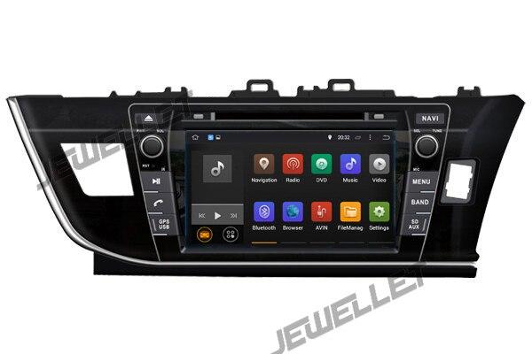 Navegação de rádio do carro dvd gps do andróide 9.0 da tela do ips do núcleo de octa para a movimentação da mão direita de toyota corolla 2014-2016
