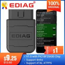 Ediag – Lecteur de code avec connecteur OBD2, Bluetooth, Wi Fi (ELM327), scanner V1.5, compatible Android/iOS, P01/P02, PIC1825K80