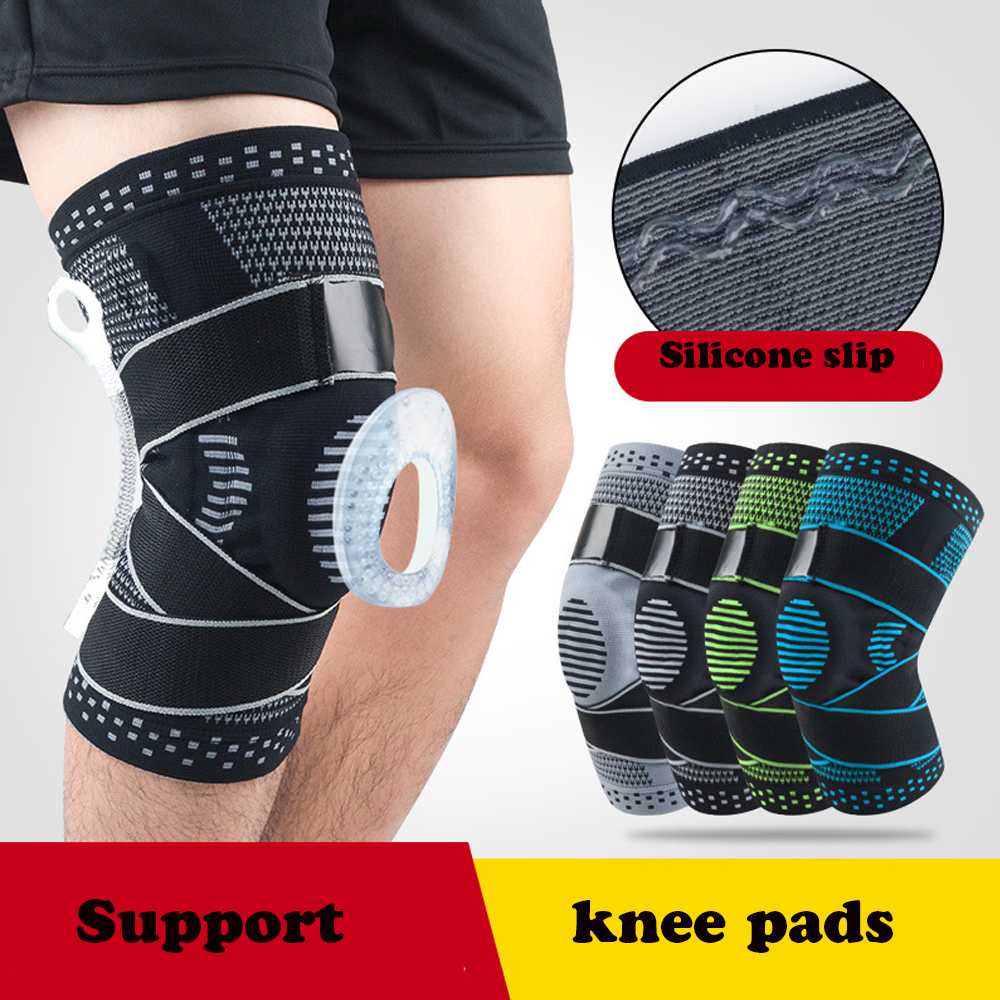 Joint Support Knee Pads Spring Brace Adjustablefor Gym Running Walking Basketball Sports Injury Rehabilitation and Protection