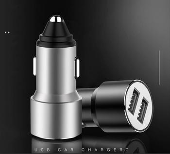100pcs/lot Car USB Charger Mobile Phone Charger 2 Port USB Fast Car Charger for iPhone Samsung Tablet Car-Charger