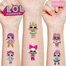 LOL Surprise-pegatina de tatuaje para niños, regalo de decoración para fiesta de cumpleaños, pegatinas de tatuaje LOL