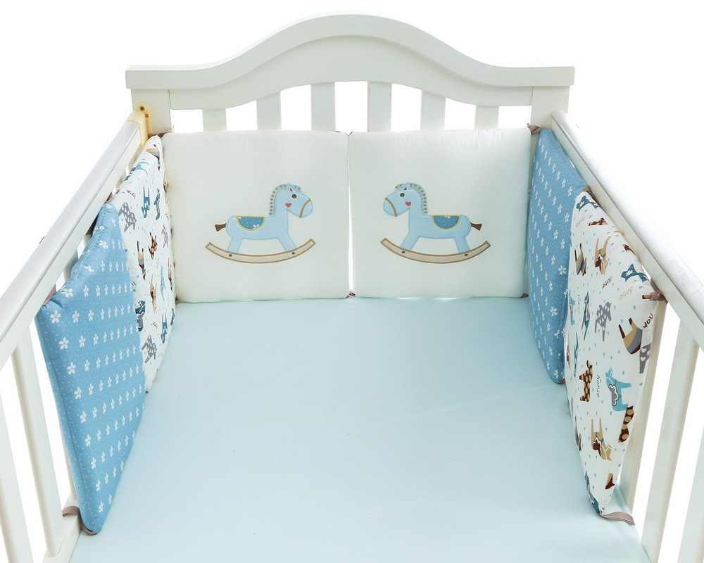 6 Pcs/lot Tempat Tidur Bayi Pelindung Crib Bumper Bantalan Baby Bed Bumper Di Crib Cot Bumper Safety Katun Bayi set Tempat Tidur Rail