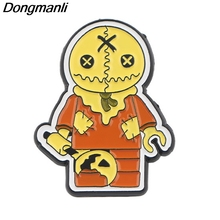 P4038 Dongmanli Movie Trick 'R Treat Pins Metal Brooches and Pins Enamel Pin for Backpack Badge Brooch T-shirt Collar Jewelry k313 trick r treat horror pins metal brooches and pins enamel pin for backpack bag badge brooch t shirt halloween jewelry