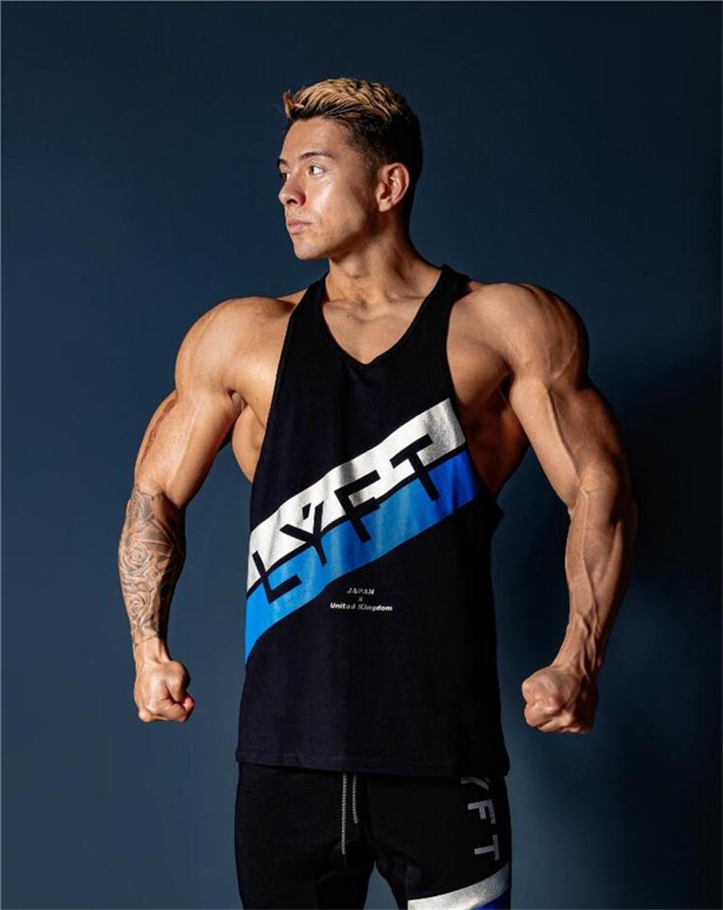 2020 Summer Men Bodybuilding Tank Tops Gym Workout Fitness Cotton Sleeveless Shirt Running Clothes Stringer Singlet Casual Vest