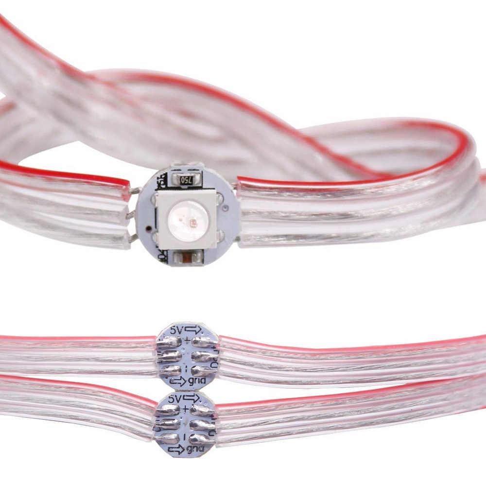 50 個/100 個 WS2812B 事前に半田ヒートシンク 5050 RGB アドレス可能 Led モジュールストリップライト WS2812 IC DC5V ピクセル LED モジュールストリング