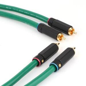 Image 3 - Hifi Audio Interconnect Kabel 2328 Vergulde 2RCA Kabel Hoge Kwaliteit 6N Ofc Hifi Rca Male Naar Male Audio kabel