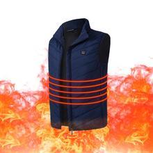 Жилет с подогревом для рыбной ловли, Графен, электрический нагревательный жилет, USB, безопасность, умный, постоянная температура, нагревательный костюм, куртка с подогревом