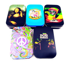 Tobacco Cigarette Box Case Storage Metal Holder Cigarette Accessories Rolling Tray Machine for Raw Smoking Rolling Paper Fashion eu uk standard light wall touch screen switch ac110 240v touch switch crystal glass panel 1 2 3 gang 1 way wall touch switch