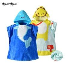 Очень милая детская одежда для мальчиков и девочек Детский банный халат с героями мультфильмов формы в виде животных сказки полотенце с капюшоном банное Полотенца мягкая удобная одежда для ванной Полотенца